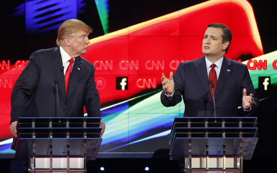 Donald Trump and Ted Cruz debate