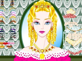 Juego de poner joyas y maquillar a la princesa