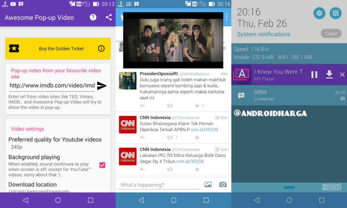 Cara Multi Window Video di Android Zenfone 6