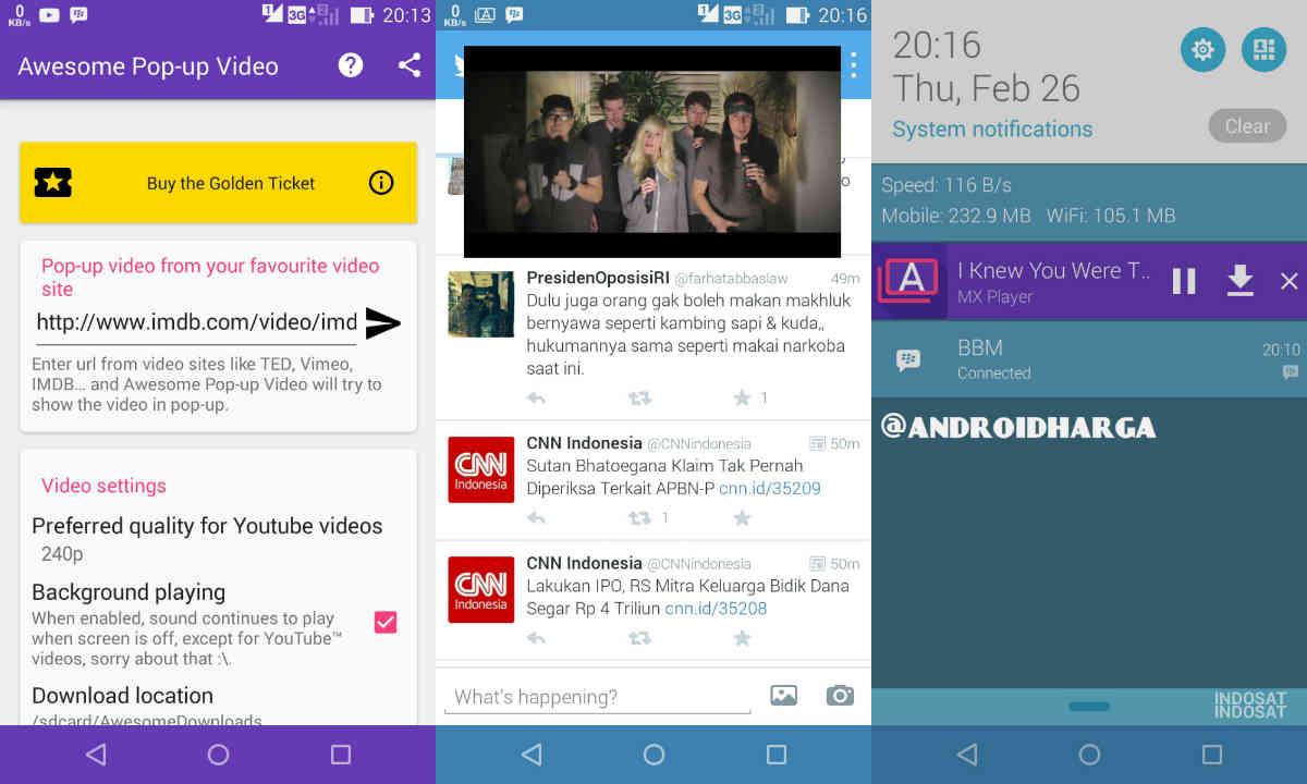 Cara Multi Window Video di Android Zenfone 6