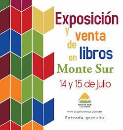 Exposición y venta de libros en Monte Sur