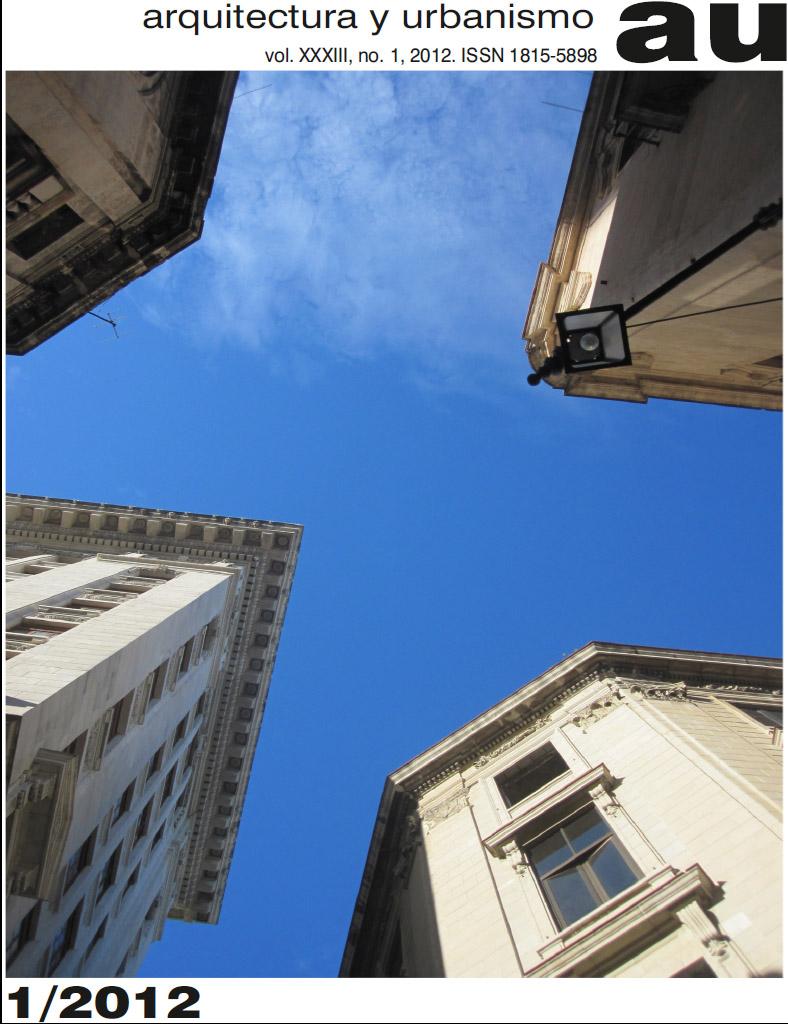 Revista Arquitectura Y Urbanismo 1 2012 Arquitectura Cuba