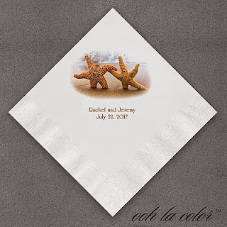 Beach Wedding Reception Napkins