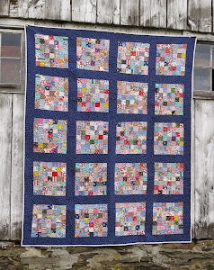 Elma's Scrappy Postage Stamp Block Quilt