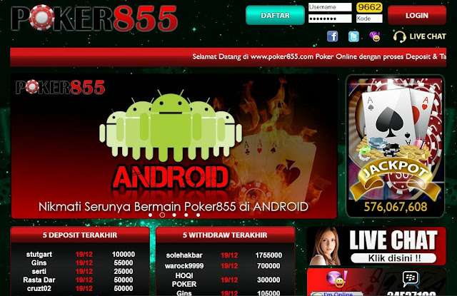 Daftar Poker Online Uang Asli Poker855.com