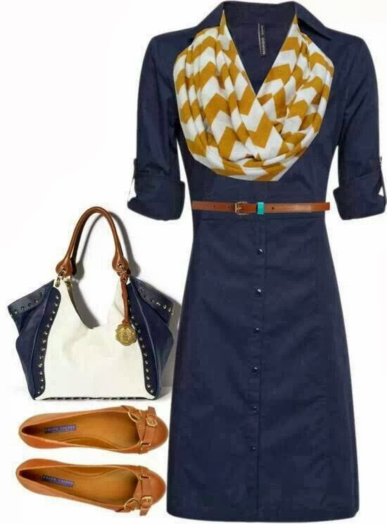 Blue long jacket, scarf, hand bag and slipper for fall