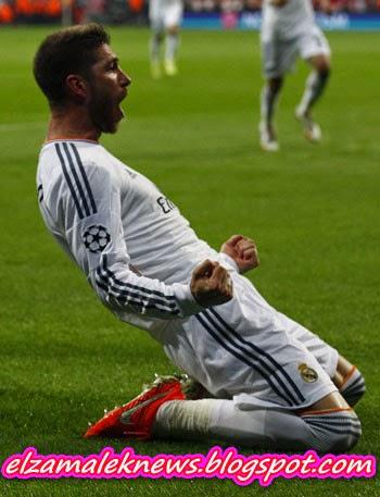 سيرجيو راموس لاعب وسط ريال مدريد الأسباني الدولي