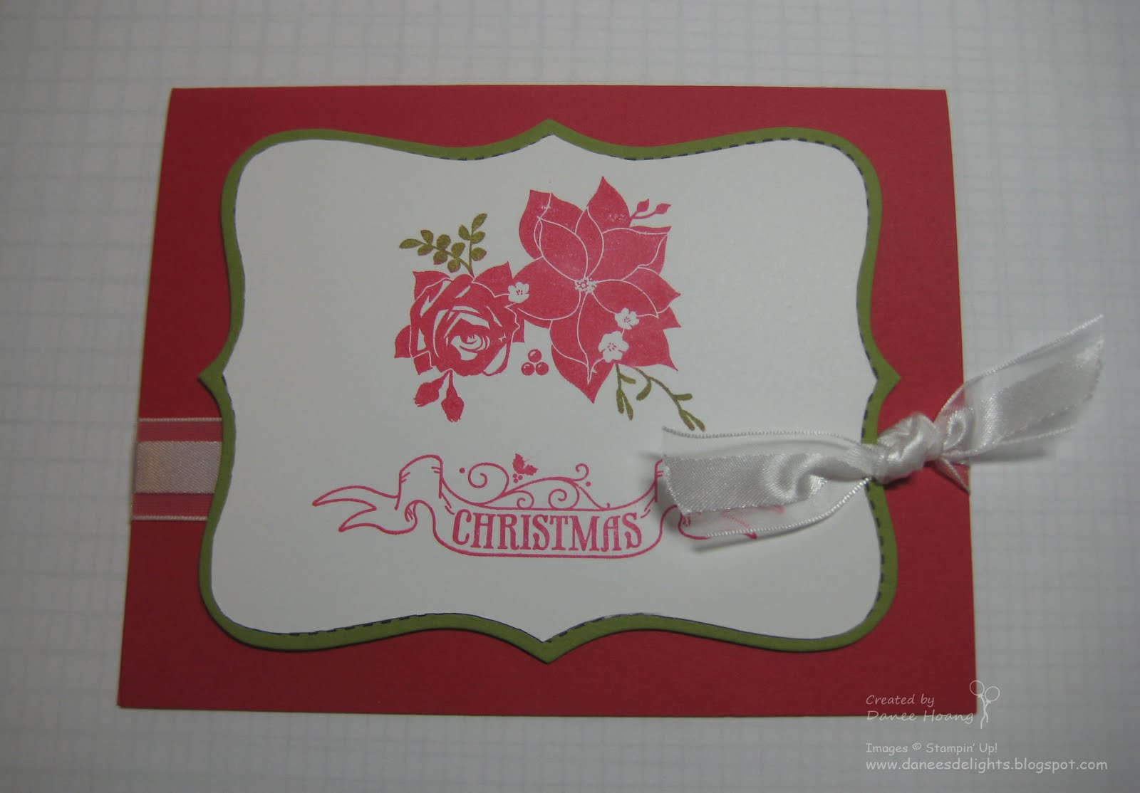 Danee\'s Stampin\' Delights: Pines and Poinsettias Christmas Cards