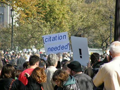 "Protest sign with the words ""citation needed"""