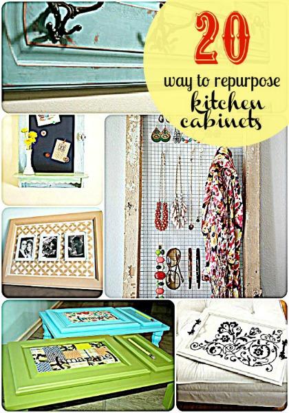 hip2thrift: 20 ways to repurpose kitchen cabinet doors