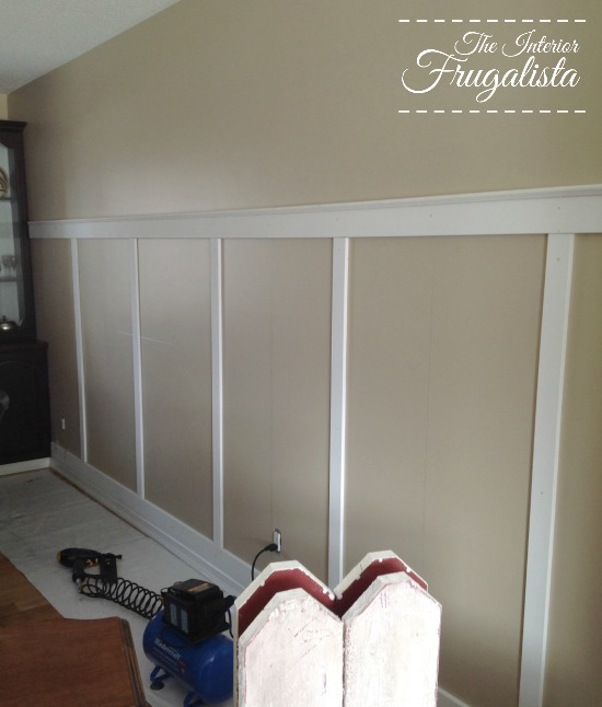Installing the trim for a board and batten wall