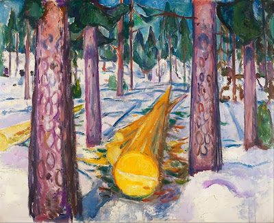 Edvard Munch - the yellow log,1912.