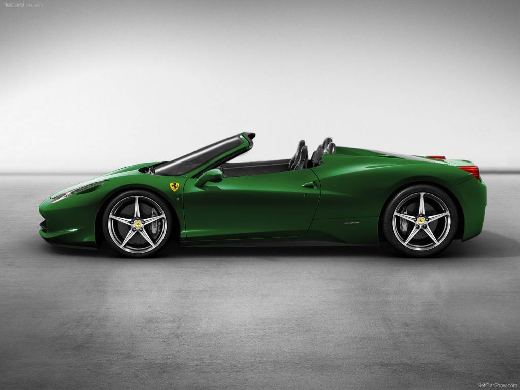 wallpaper green ferrari cars - photo #8