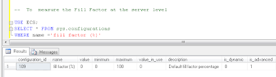 What is fill factor in sql server