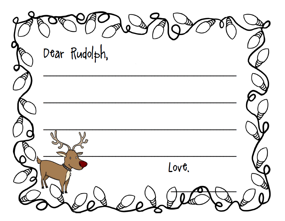 reindeer writing paper Use this free christmas stationery to add an extra special touch of fun or elegance to anything you print or write this holiday season you can print your christmas stationery on regular computer paper or on cardstock change the color of your paper and you'll have a whole new look after you've.