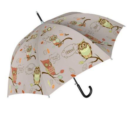 Paraguas con búhos.
