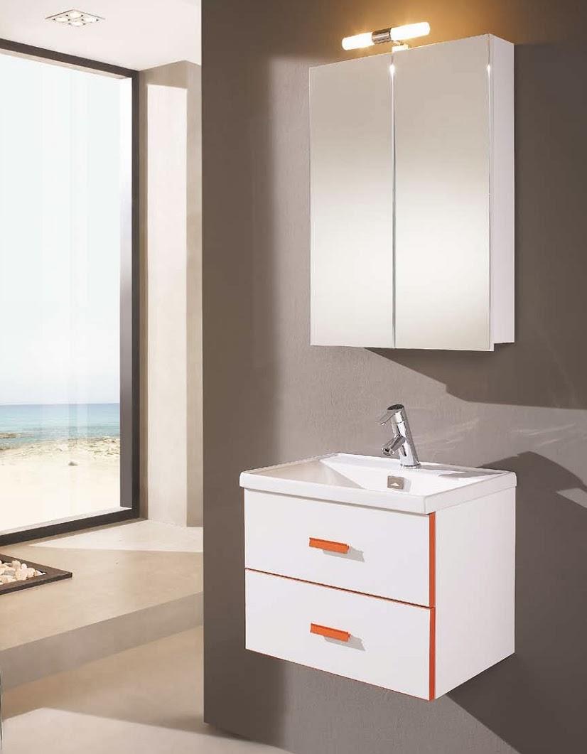 Mueble ba o blanco fondo reducido for Bano muebles blancos
