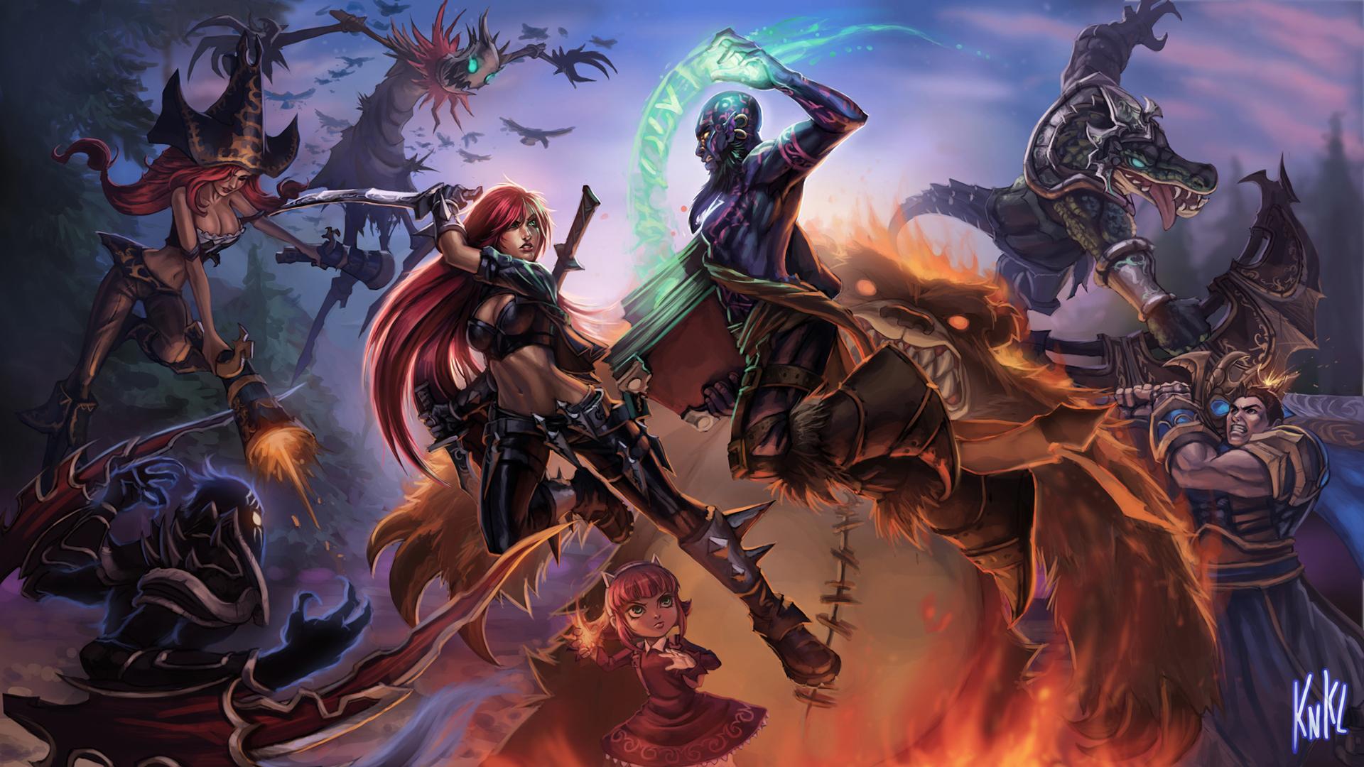 League Of Legends Wallpaper Darius Vs Garen And Gar