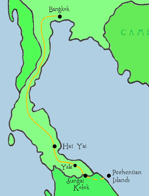East To West Bangkok To Sungai Kolok