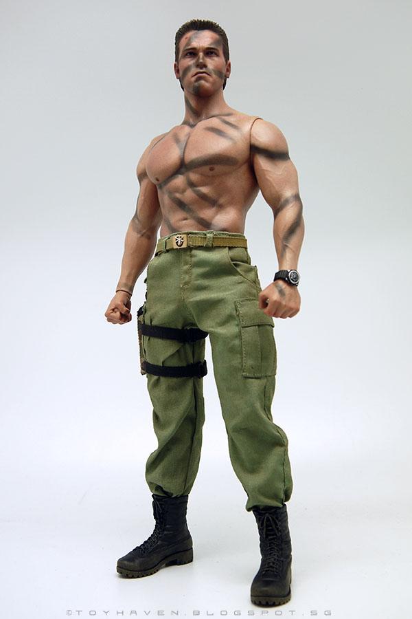 Custom 1//6 Scale Arnold Schwarzenegger Commando Head Sculpt For Hot Toys Body