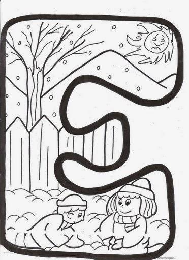 Ba l de navidad letras infantiles de invierno para - Letras infantiles para decorar ...
