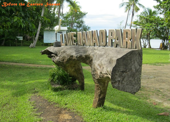 Camotes Island - Lake Danao Park welcome sign