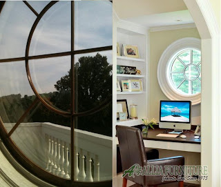 Ox-eye window jendela rumah model bulat