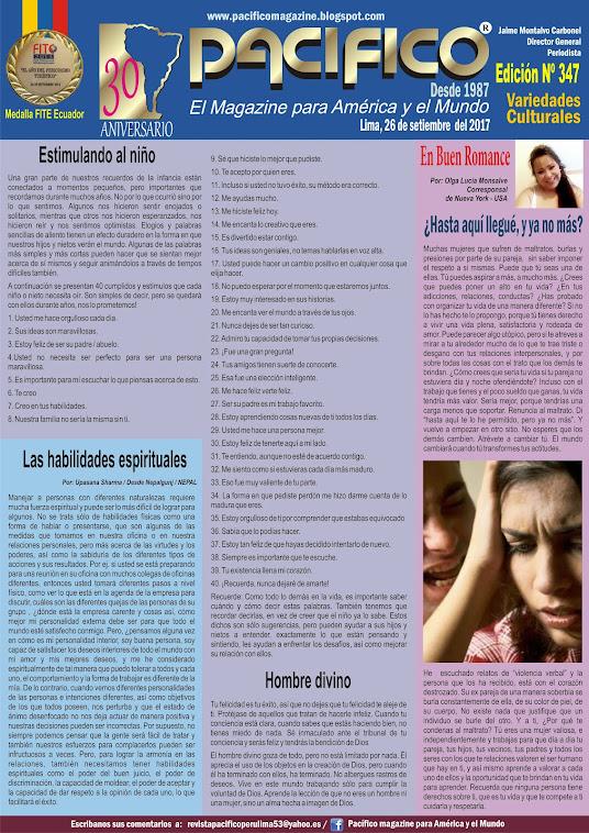 Revista Pacífico Nº 347 Variedades Culturales