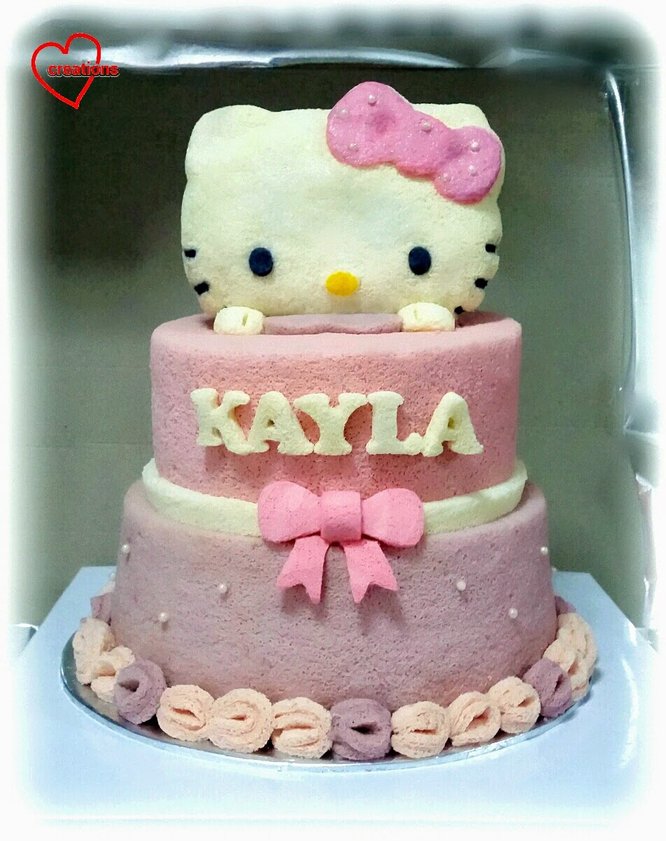 Loving Creations for You: Hello Kitty Doll Tiered Chiffon Cake