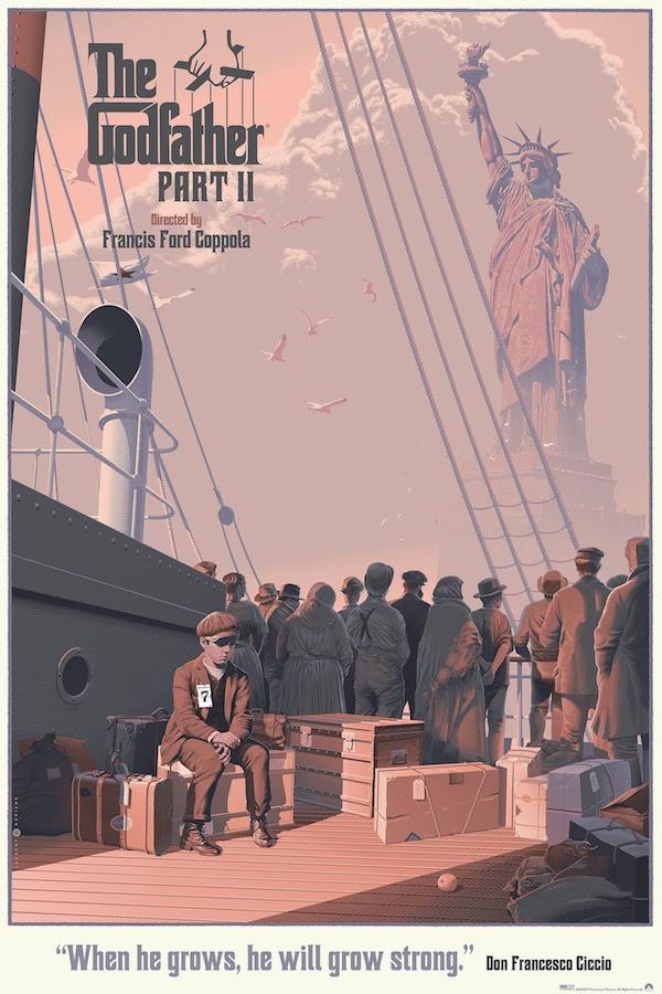 The Godfather Part II Standard Edition Screen Print by Laurent Dureiux