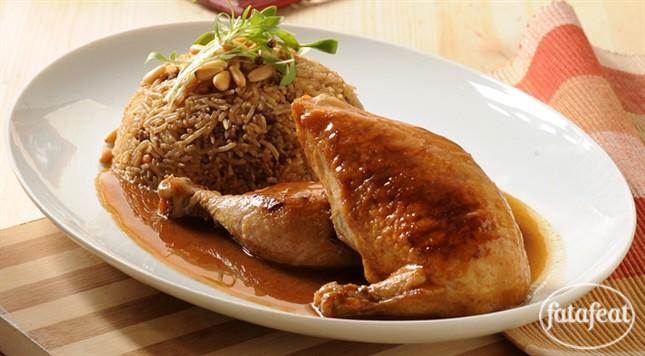 أرز على دجاج