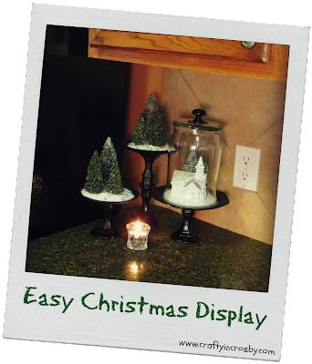 Dollar Tree, bottle brush trees, Christmas Village, easy Christmas decorations,