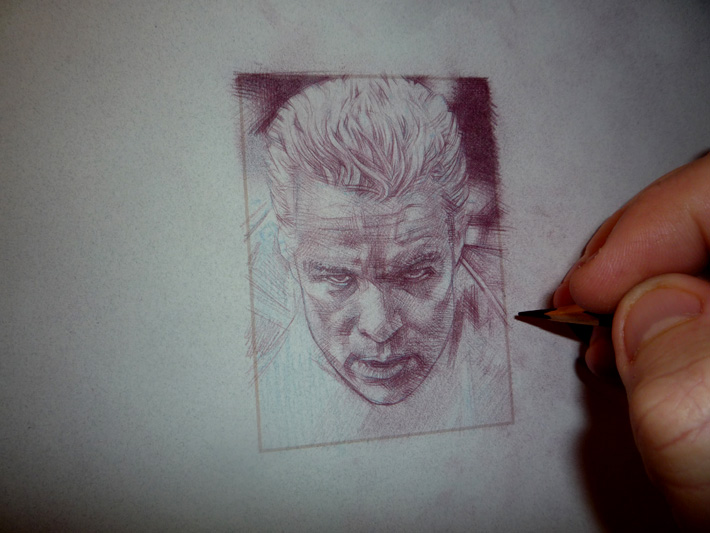 James Marsters as Spike, Original Art by Jeff Lafferty