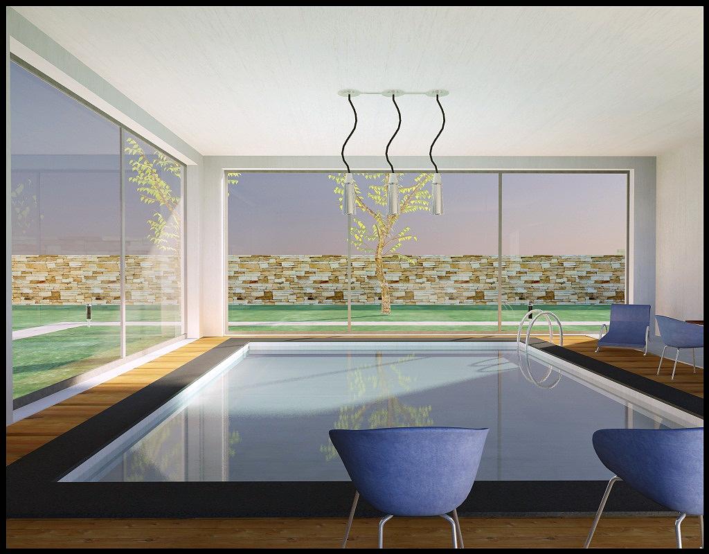Infoarquitectura render 3d interiores for Piscina interior