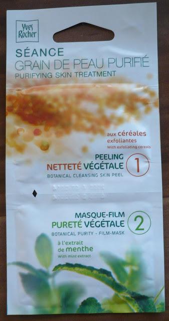 Yves Rocher - Duo rostlinná čistící gomáž + jemná čistící maska s výtažkem z máty