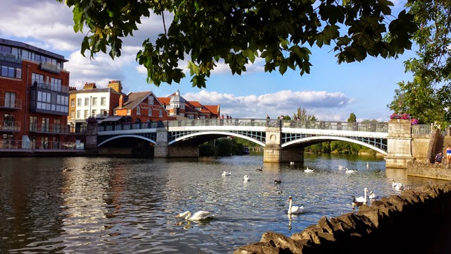 Eton Bridge and Windsor Riverside