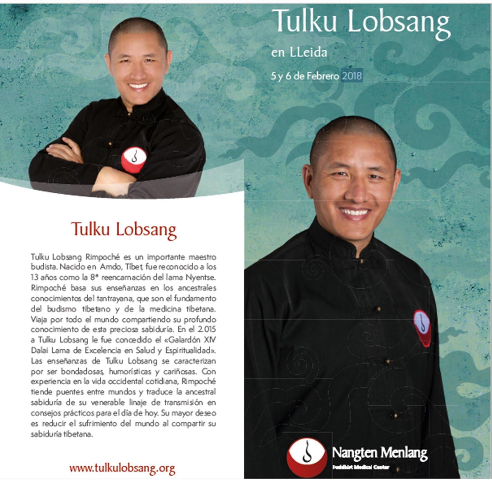 Tulku Lobsang en Lleida 5/6 febrero 2018