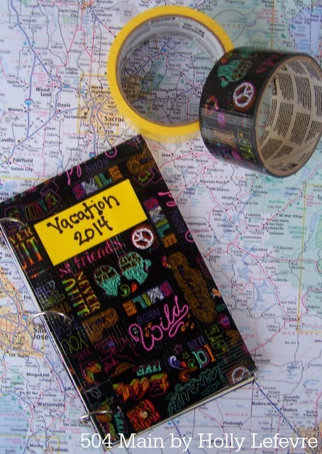 Duct Tape Vacation Journal from 504 Main #scotchducttape