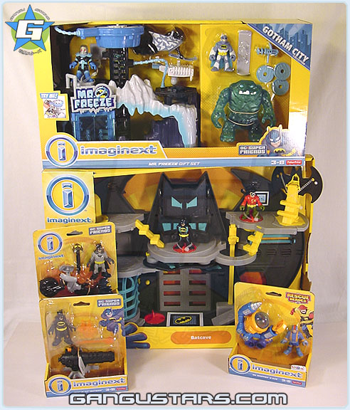 イマジネック Fisher-Price Imaginext DC Super Friends Batman Batcave Gotham City Mr. Freeze Giftset