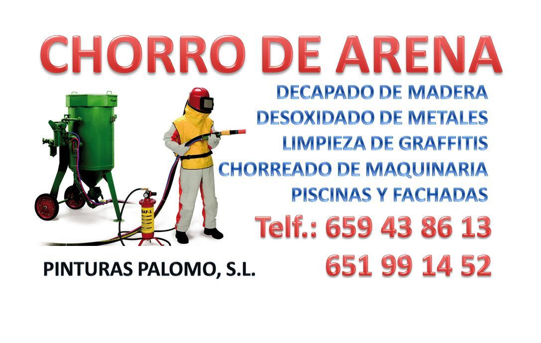 """CHORRO DE ARENA """"PALOMO"""""""