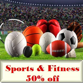 Flipkart : Sports & Fitness 50% off from Rs.170