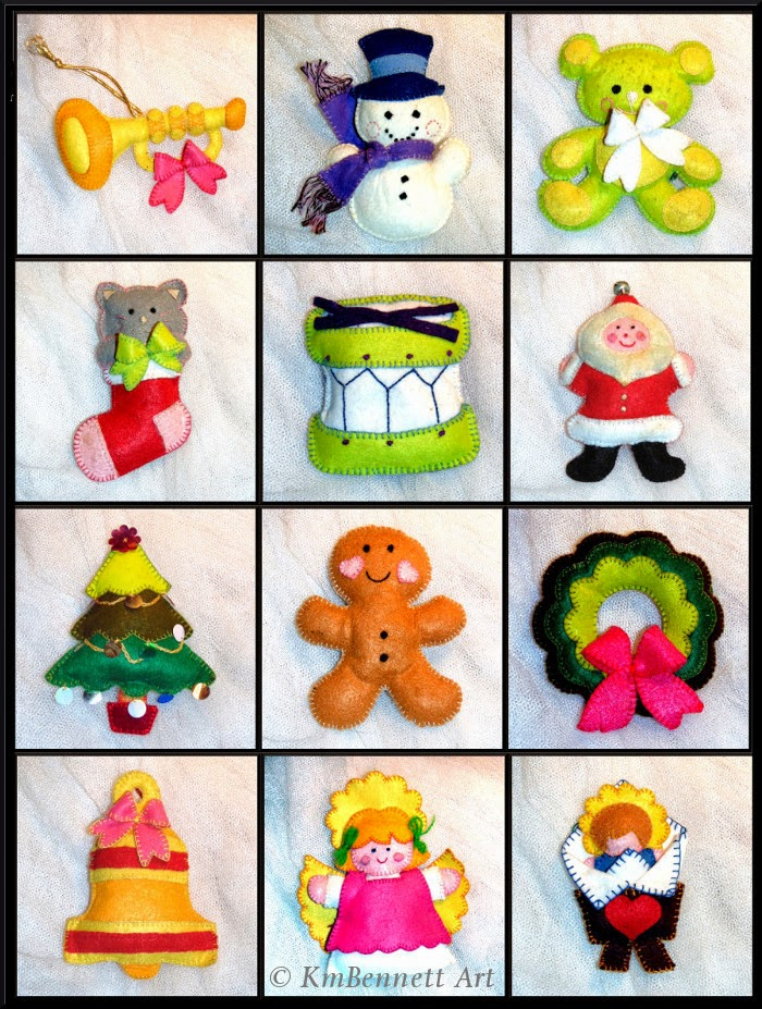Twelve Ornaments KmBennettArt