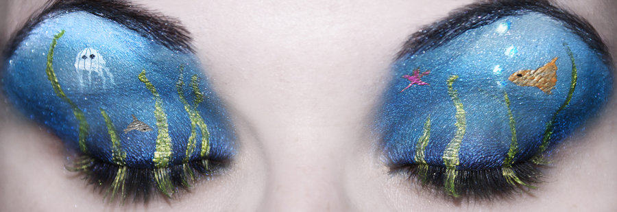 Art sci wear art on your eyelids with eye shadow paintings for Fish eyes in paint