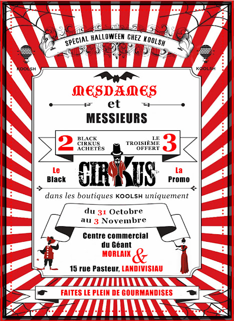 Promotion e-liquide Black Cirkus dans le magasin à Brest pour Halloween