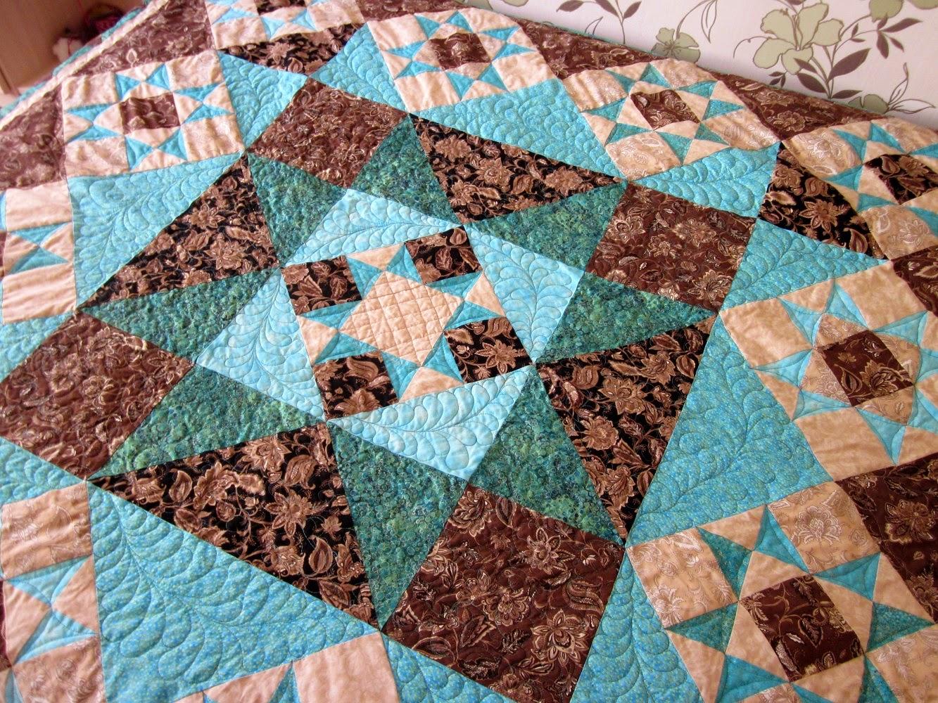 лоскутное одеяло, стежка перья