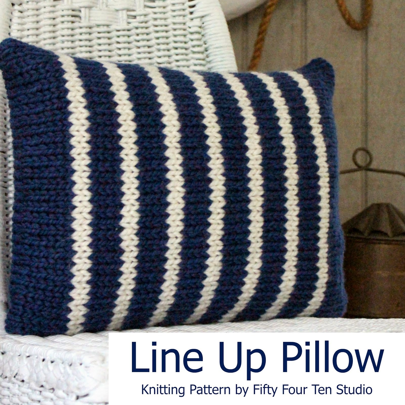 Fifty four ten studio free patterns line up pillow includes two stripe knitting charts bankloansurffo Images