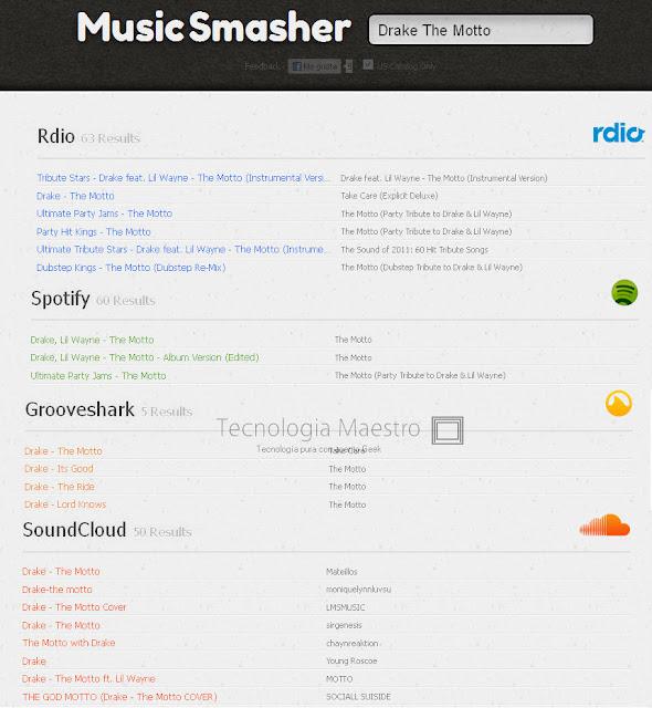 Encontrar música fácilmente con Music Smasher