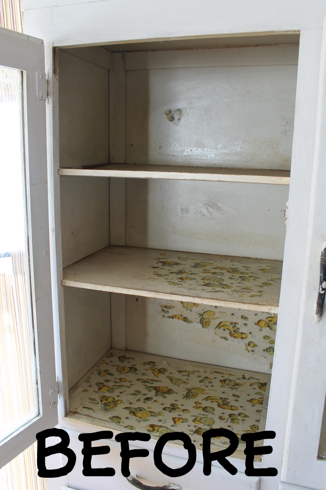 chalk paint and refinishing a vintage cabinet the details the country chic cottage. Black Bedroom Furniture Sets. Home Design Ideas