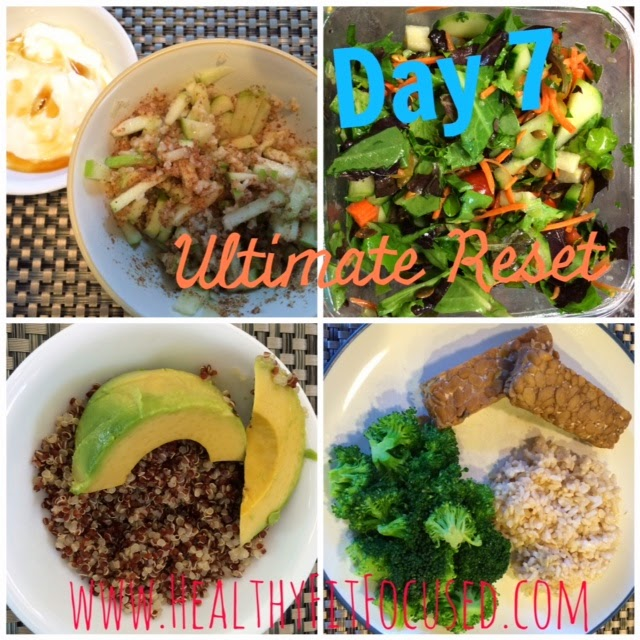 Ultimate Reset Day 7 Meals