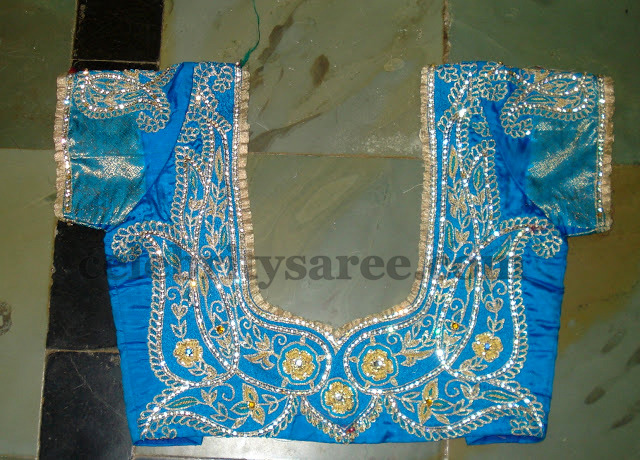 ... designs or bridal blouses with maggam and thread work combination